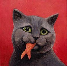 Котики в картинах Вики Маунт (Vicky Mount) » RadioNetPlus.ru развлекательный портал