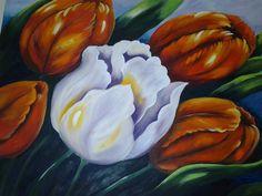 Pintura tela tulipas de Alacir Balbi