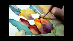 Rainy Irises - What an incredibly beautiful and amazing process. This is what I love about painting. I want to buy this piece so bad! Watercolor Video, Watercolour Tutorials, Watercolor Techniques, Watercolour Painting, Watercolor Flowers, Painting & Drawing, Watercolors, Painting Techniques, Contemporary Abstract Art
