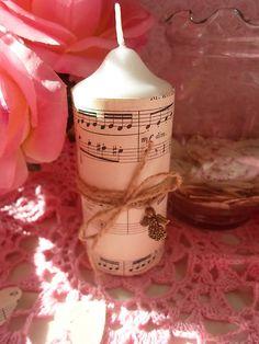 little_birdie / vintage sviečka s anjelikom