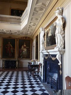 fireplace in entrance hall of Ham House