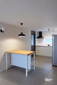 31py 모던한 대전 둔산동 녹원 30평대 아파트인테리어 : 네이버 블로그 Wood Tools, Corner Desk, Interior, Kitchen, Furniture, Home Decor, Home Deco, Corner Table, Cooking