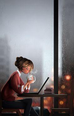 Cartoon Girl Drawing, Girl Cartoon, Cartoon Art, Alone Art, Sarra Art, Girly Drawings, Cute Girl Wallpaper, Digital Art Girl, Cute Cartoon Wallpapers