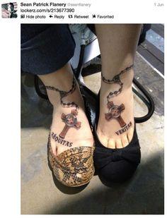 I just adore this Boondock Saints tattoo!