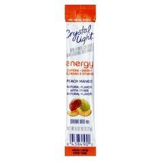 Crystal Light On the Go Peach Mango Energy Drink Mix 10 pk