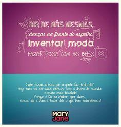 Imagem divulgação Redes Sociais Dia da Mulher Mary Jane #Web #Facebook