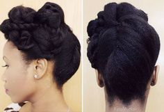 5 Prom Hairstyle Tutorials for Naturals - Hair Hair Chick Natural Hair Updo, Natural Hair Journey, Natural Hair Care, Natural Hair Styles, Cornrows, Job Interview Hairstyles, Black Hair Care, Natural Hair Inspiration, Be Natural