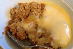 Apple Crumble and Custard, mmmMM!