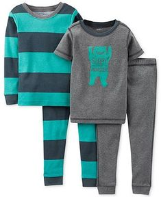 Carter's Baby Boys' 4-Piece Monster Pajamas - Kids - Macy's