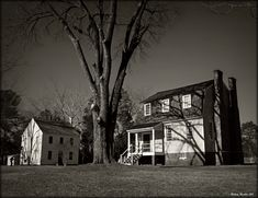 The c.1760 Owens House is at the right and the other building is the old Masonic Lodge Probably built in the 1820's. Halifax NC.