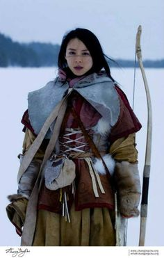 Female Mongolian archer