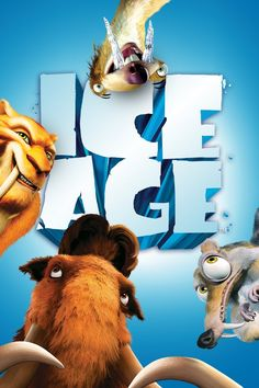 ice age poster part 1 2002 high quality HD printable wallpapers all characters manny diego sid and scrat Ice Age Movies, Good Movies, Streaming Hd, Streaming Movies, Mary Poppins, Cedric The Entertainer, Popular Ads, Free Poster Printables, Audio Latino