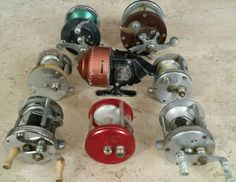 Collection of 8 Vintage Fishing Reels BRONSON, JC HIGGINS, GREAT LAKES, BAY CITY | eBay