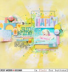 Layout by Missy using Simple Stories Summer Vibes and {a flair for buttons}.