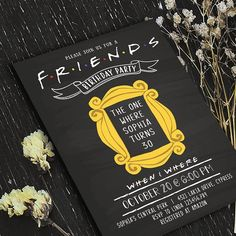Friends Tv Show Invitation// Bridal Shower/Birthday Invitation // Sold as DIGITAL FILE Only// Nothin