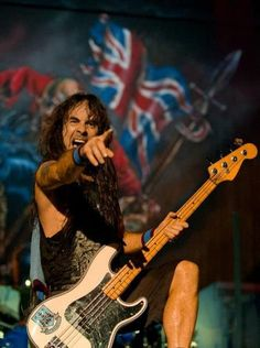 Steve Harris. Great songwriter and excellent Bass player. One of the most influential musicians in Heavy Metal.