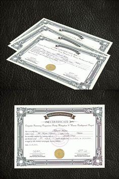 Corporate Certificate Design