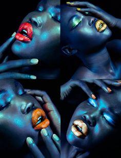Vibrant Shades of Lipstick & Nail Polish.
