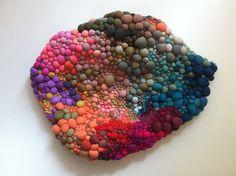 So coloured! I fell in love with the soft textile sculptures-installations by the Chilean artist Serena Garcia Dalla Venezia.