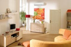 Príjemná teplota v byte vďaka klimatizácii.