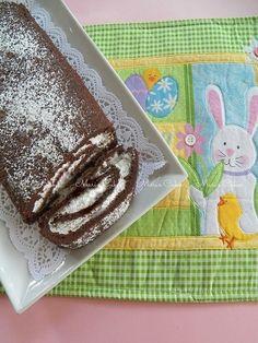 Brazo Gitano de Chocolate (Rollo de Chocolate), light, sin harina y sin grasa.    Maris Cakes