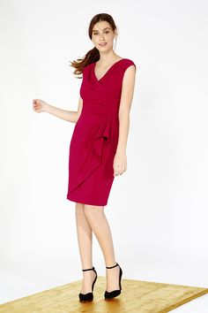 Womens cherry emmy crepe dress from Coast - £119 at ClothingByColour.com Coast Stores, Crepe Dress, Classy Dress, Dresses For Work, Wedding, Clothes, Color, Cherry, Women