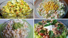 Pokud jste fanouškem salátů, doporučuji Vám prohlédnout si tuto sbírku vynikajících salátů, které můžete klidně zaměnit za přílohu k masu, případně salát podávat jako hlavní jídlo. Nejen že vám nebude těžko, ale shodíte i pár kilo. Samozřejmě, pokud v taktomto zeleninovém režimu setrváte delší období. Impressive Desserts, What To Cook, Desert Recipes, Quick Meals, Pasta Salad, Food Videos, Kids Meals, Feta, Potato Salad
