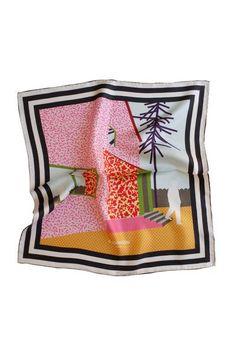 Memphis Print Pochette - P. Textiles, Textile Patterns, Textile Design, Print Patterns, Pocket Squares, Tailor Made Suits, 80s Design, Memphis Design, Scarf Design