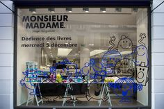 Vitrines - colette mr & ms Store Front Windows, Retail Windows, Window Design, Wall Design, Glass Sticker Design, Pop Up, Window Signage, Shop Facade, Monsieur Madame