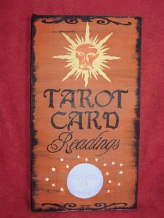 Tarot Card Readings Sign Plaque Astrology Magic Witchcraft Witches Gypsy Wiccan $22.50