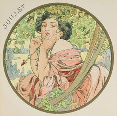❤ - Alphonse Mucha | The Months - July, 1899.