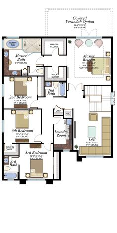 Powell Plan | Florida Real Estate - GL Homes Small House Floor Plans, House Plans, 10 Year Plan, Florida Homes For Sale, House Blueprints, New Home Builders, Architecture Plan, House Layouts, Future House
