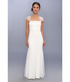 Be the belle of the ball with this exquisite Adrianna Papell™ beaded gown!. Alluring evening gown ...
