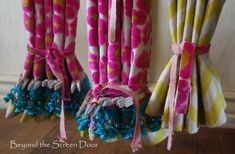Colorful Laundry Room Window Treatments | Beyond the Screen Door. Useful tips