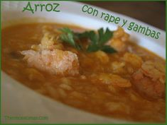 Arroz con rape y gambas. Thermomix.