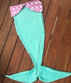 Mermaid tail blanket by themodernmini on Etsy