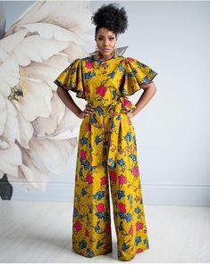 latest African print, African fashion, Ankara style in jumpsuit. African Fashion Designers, African Print Fashion, Africa Fashion, Fashion Prints, African Inspired Fashion, African Print Dresses, African Fashion Dresses, African Dress, Ankara Fashion