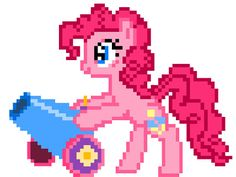 8-bit Pinkie and Party Cannon Sprite by ~ladypixelheart on deviantART