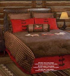 Rustic Cabin Bedding Set Comforter Moose Canoe Plaid Red Brown Lodge New http://www.ebay.com/itm/Rustic-Cabin-Bedding-Set-Comforter-Moose-Canoe-Plaid-Red-Brown-Lodge-New-/120969677344?pt=US_Comforters_Sets&var=&hash=item1c2a5aca20