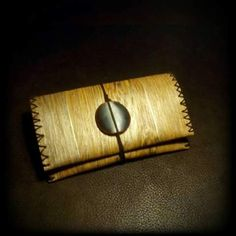 Imitation wood tobacco pouch plastic by TheBlurStitchProject