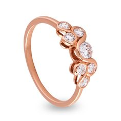 The Perfect 18ct Rose Gold Round Brilliant Diamond Jane Ring.