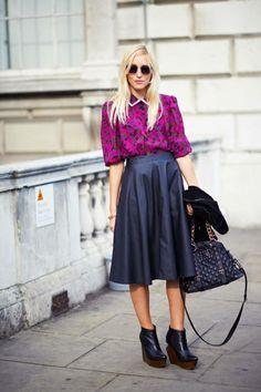 London Street Style 2012 - London Fashion Week Spring 2013 Style - ELLE