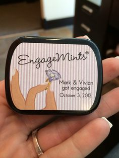 Engagemints  Great idea for our engagement party favors. #VivandMark