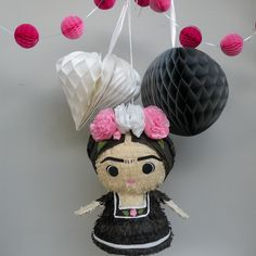 La Fridita is the long awaited smaller version of our popular Fiesta Frida. This piñata is made with the same care and detail given to all of our pieces, and would make a great gift for all your Frida loving friends.16 inches tall* This piñata is for display, no hole will be cut for filling* LIMITED QUANTITY * No custom colorsAll pieces are handcrafted in southern California upon order and will take between 1-2 weeks to process.
