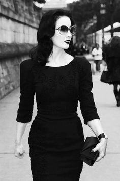 Dita she is just such a beauty. I love her style!
