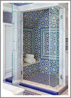Moroccan Style Bathroom In Cape Cod, Massachusetts
