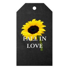Chalkboard Autumn Bride Sunflower Party Gift Tags - lace gifts style diy unique special ideas