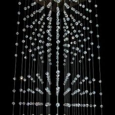 Double Crystal Rain. #swarovski #crystals #interiors #projektowaniewnętrz #interiordesing