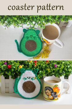 This is an original Crochet Pattern (in English using American terminology) to create your own Cute Avocado-Cat Coaster, NOT a finished Crochet Coaster! The Crochet Coaster can be used to protect surfaces from cold or hot drinks, it will be a wonderful gift for cat lovers, avocado lovers and lovers of creative things. Decorate your home with amazing handmade crochet coasters!
