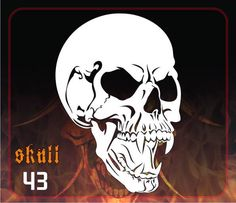 Face Stencils, Skull Stencil, Stencil Art, Skull Art, Stenciling, 3 Gif, Knuckle Tattoos, Pallet Ideas Easy, Pattern Art
